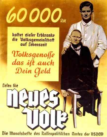 Nazi Eugenics Poster